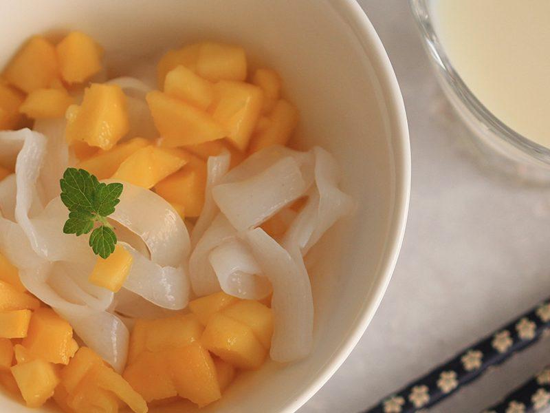 Tagliatelle de Konjac à la mangue