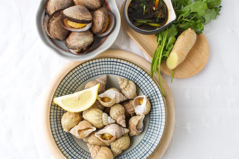 Bulots à la sauce aux fruits de mer