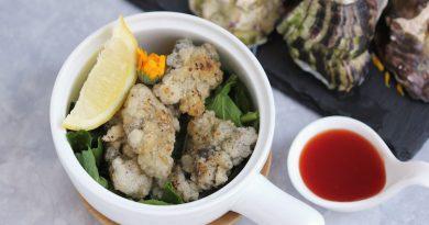 Tempura d'huîtres à l'ail